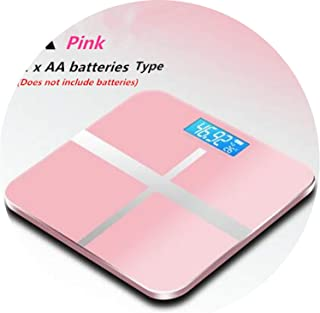 Hot USB Charging Weighing Scales LCD Display Electronic Smart Balance Body Accurate Medical Personal Scales,A Pink