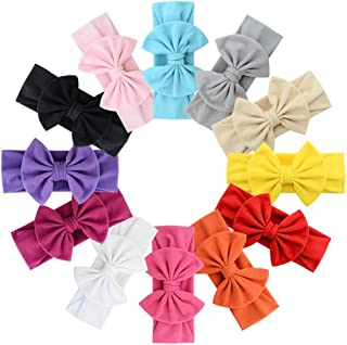 12pcs Baby Girls Bowknot Headbands Set - Hair Accessories for Newborns Infants Toddlers