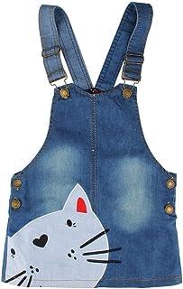 VVVVANKER Enfants bébé fille réglable salopette robe denim robe jeans jupe vêtements