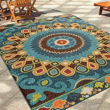 The Curated Nomad Pacheco Indoor/ Outdoor Retro Area Rug (5'2 x 7'6)