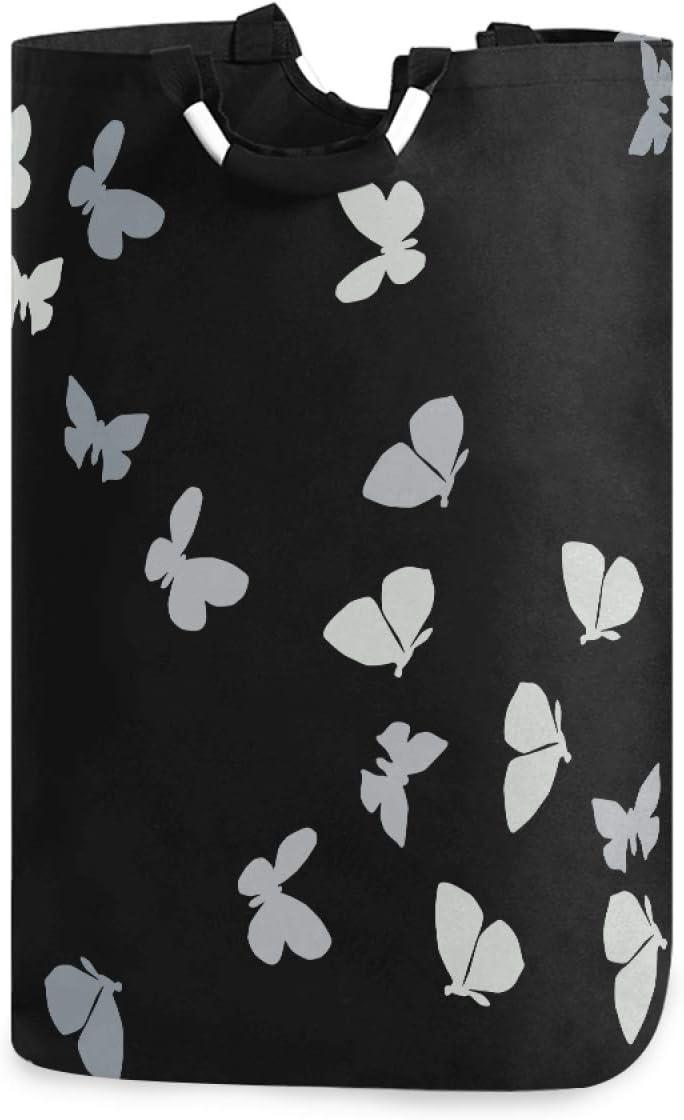 Qilmy Colorful Butterflies Laundry Genuine Waterproof Large Hamper Popular standard with