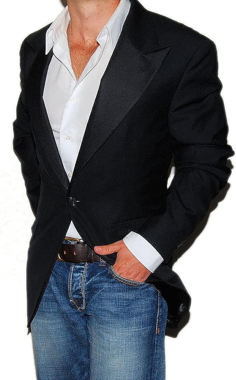 Ralph Lauren Polo RRL Mens Black Wool Tuxedo Tux Blazer Sport Coat Italy 42L