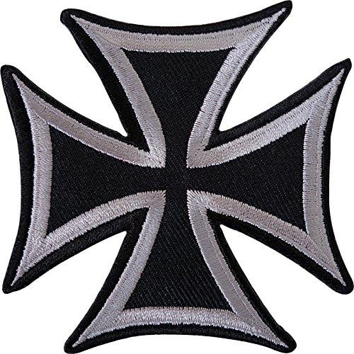 Parche bordado de cruz maltesa para planchar o coser en camiseta, pantalones vaqueros y chaqueta.