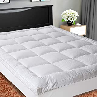 Best SOPAT Extra Thick Mattress Topper (King),Cooling Mattress Pad Cover,Pillow Top Construction (8-21Inch Deep Pocket),Double Border,Down Alternative Fill,Breathable Review