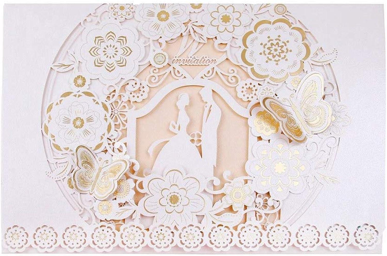 mejor calidad Acreny Cumpleaños Invitación Invitación Invitación de Boda Tarjetas Sobres Gratis con blancoo Encaje Floral - una, 100 pcs  en venta en línea