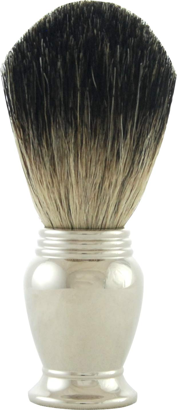 Fees free Colonel Conk Model 247 Deluxe Pure Badger Chrome Brush Han with Shaving