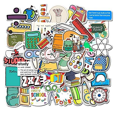 HENJIA 50 pz Scuola Cancelleria Graffiti Sticker PVC Impermeabile Adesivo Adesivo per Bambini Fai da Te Album Diario Scrapbook Foto