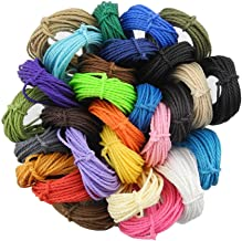 Inspirelle 1mm 28-Color Waxed Polyester Twine Cord Macrame Bracelet Thread Artisan String for Jewelry Making, 10m Each Color