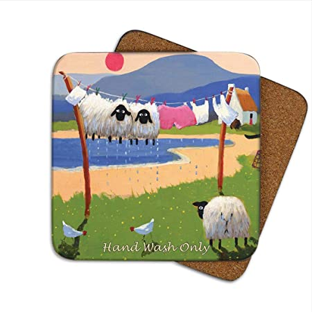 Ewe Ll Never Walk Alone Coaster By Thomas Joseph Funny Sheep Amazon Co Uk Kitchen Home