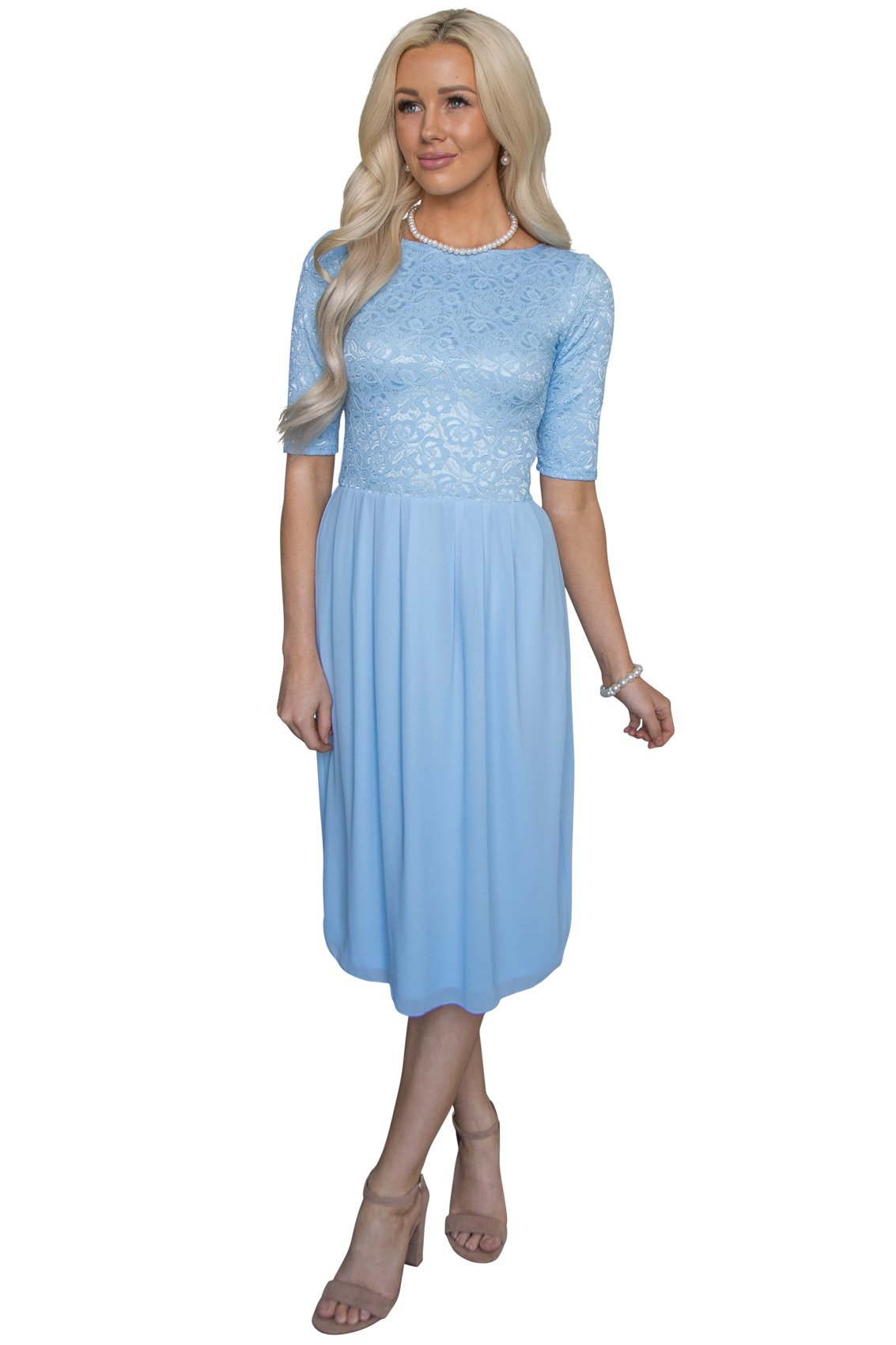 Available at Amazon: Jen Clothing Jada Modest Dress Modest Bridesmaid Dress or Modest Prom Dress
