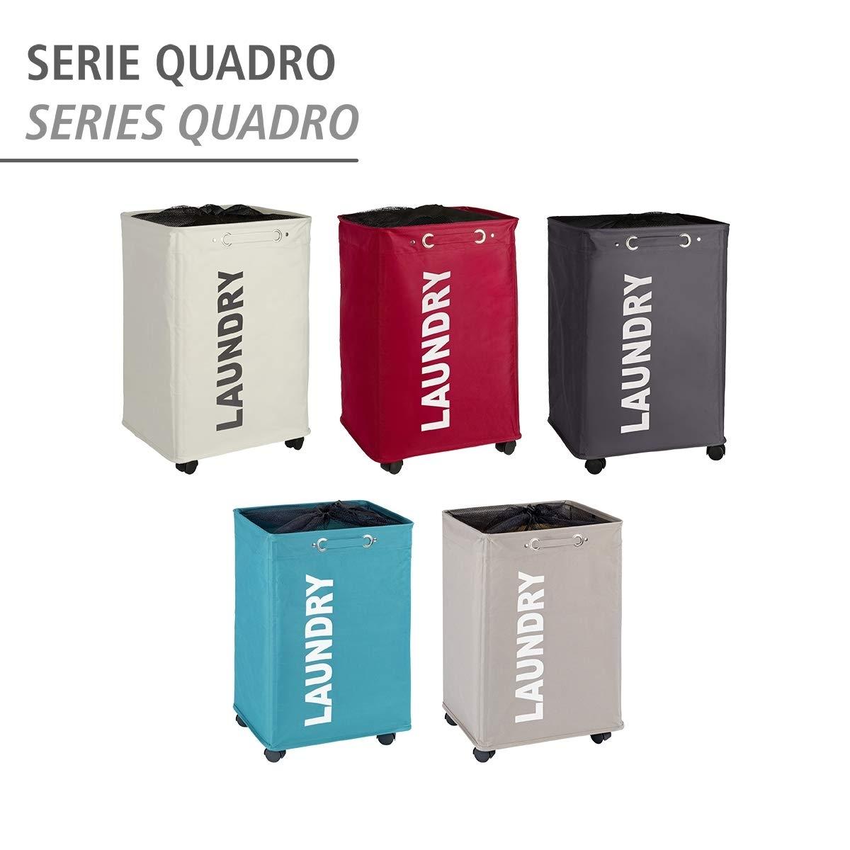 WENKO Quadro Laundry Bin Petrol 3450118100