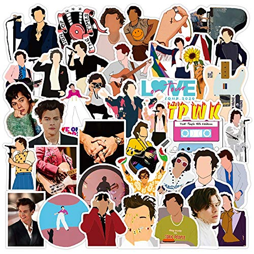 NANANA British Singer Harry Edward Styles Graffiti Stickers Skateboard Fridge Guitar Laptop DIY Waterproof Cool Sticker Decals 100 Pcs