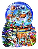 Christmas Snow Globe Shaped 1000 Pc Jigsaw Puzzle by SunsOut