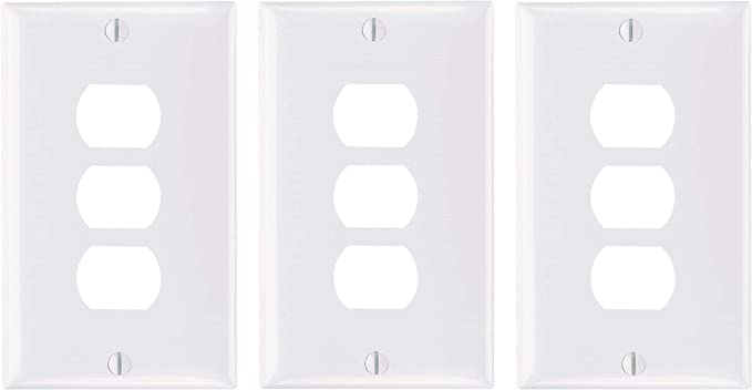 Legrand Pass Seymour K3w Plastic Despard Opening Wall Plate Three Horizontal Opening Per Gang Includes Mounting Straps Switch Plates Amazon Com