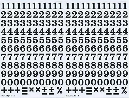 (シャシャン)XIAXIN 防水 PVC製 ナンバー ステッカー セット 耐候 耐水 数字 キャラクター 表札 スーツケース ネームプレート ロッカー 屋内外 兼用 TS-122a (2点, ブラック)
