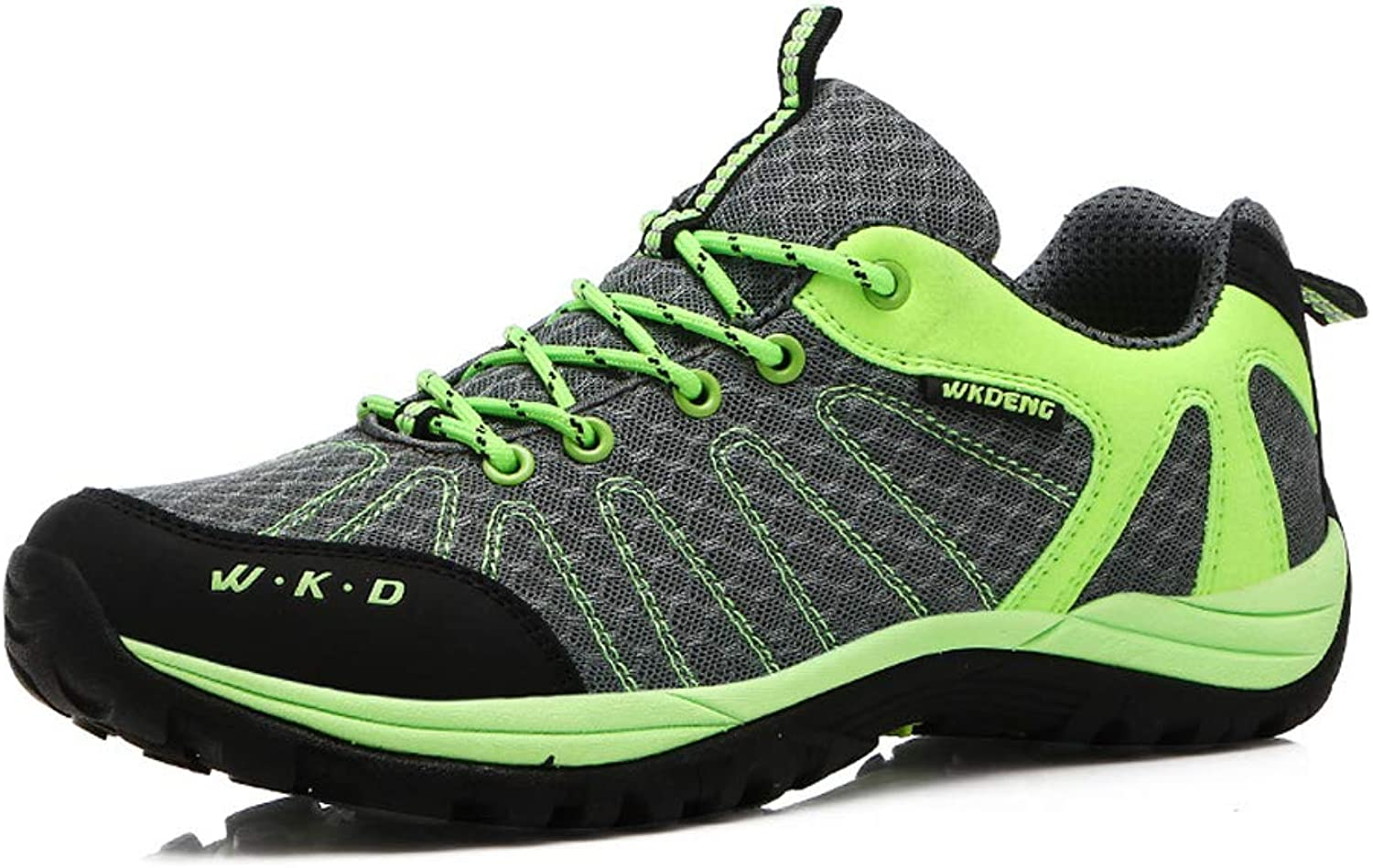 FFSH Sports shoes Non-Slip Outdoor Leisure Sports shoes Quick-Drying Cross-Country Running shoes-green-38