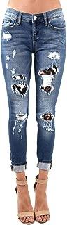 Best leopard patch skinny jeans Reviews