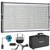 Neewer 調光可能な二色LEDビデオライトキット スタジオ撮影、YouTube、商品撮影、ビデオ撮影に適用 耐久性のあるメタルフレ ーム、960 LEDビーズ、3200-5600K、CRI 95+