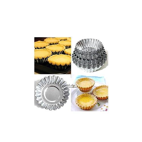 RETON 4 Sizes 20pcs Egg Tart Aluminum Cupcake Cake Cookie Mold Lined Mould Tin Baking Tool