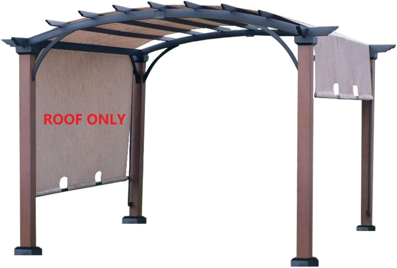 Amazon Com Alisun Replacement Sling Canopy With Ties For The Lowe S Allen Roth 10 Ft X Tan Black Material Freestanding Pergola L Pg152pst B Size 200 103 W Garden Outdoor