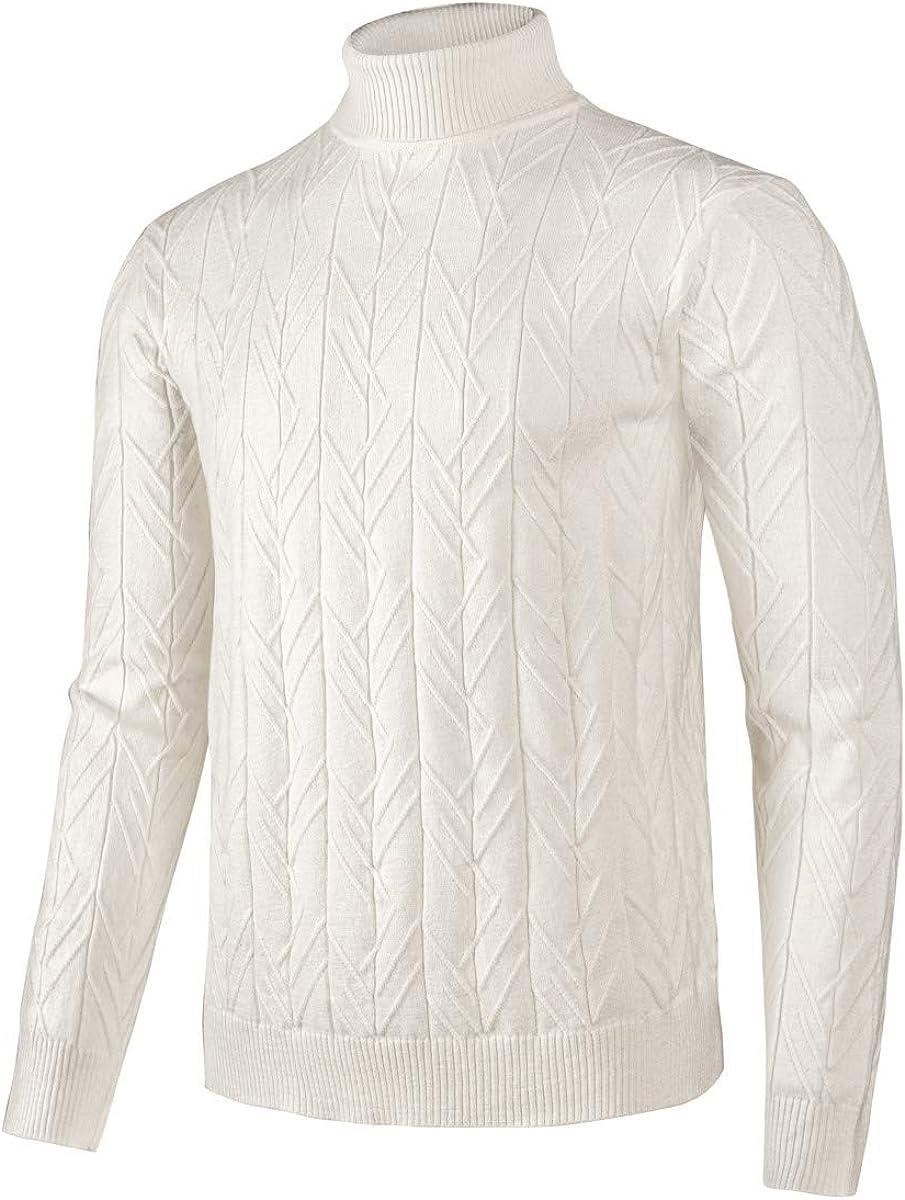 VOBOOM Men Regular Fit Turtleneck Tops latest Pullover sale Basic K Sweaters