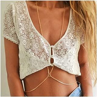 Simple Design Fashion Women Sexy Body Chain, Bikini Body Chain Jewelry, Golden Body Decoration Chain