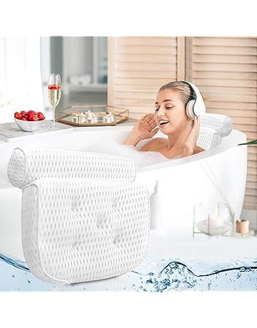 bianco aiuta a sostenere il collo della testa per tutta la vasca da bagno spa da casa Cuscino da bagno vasca da bagno gonfiabile in PVC morbido antiscivolo Cuscino per vasca da bagno con ventose