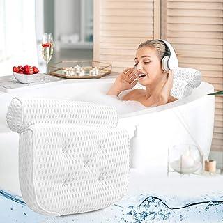 Ergonomique bain oreiller avec le cou et le dos Support - Oreillers Baignoire confortable pour Coussin détente avec 4D Air...