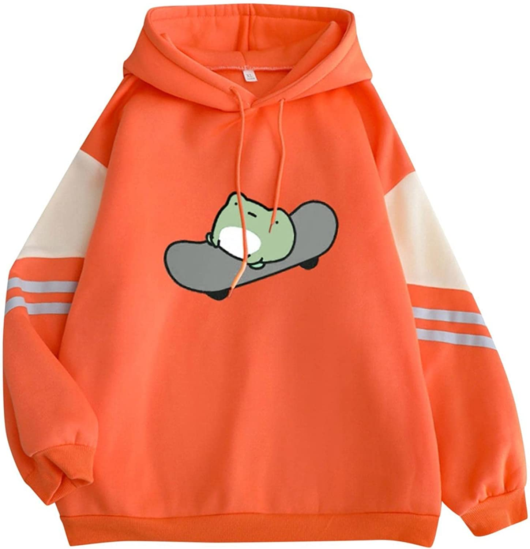 Womens Hoodies, Women Fashion Printed Long Sleeve Pullover Sweatshirts Loose Cute Design Drawstring Hoodie Tops