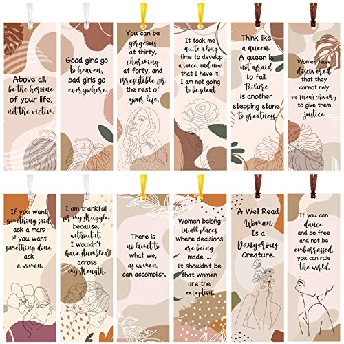 60 Pieces Inspirational Quotes Bookmarks Inspirational Bookmarks for Women Motivational Bookmarks Assorted Page Markers for Book Lovers, Mothers, Grandmothers, Teens and Graduations, 12 Styles