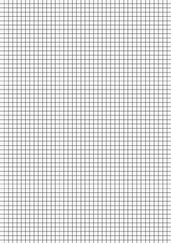 Kanzleibogen/Klausurbögen (Din A4 / 21,0 x 29,7 cm) LINEATUR UND GRÖSSE FREI WÄHLBAR (250, 5 mm Kariert)