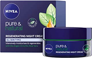 NIVEA Pure & Natural Regenerating Night Cream, 50ml