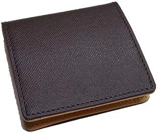 7250 コインケース 小銭入 ボックス型 牛革 財布 メンズ コンパクト 型押し ヌメ調