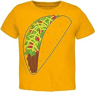 Halloween Taco Food Costume Toddler T Shirt