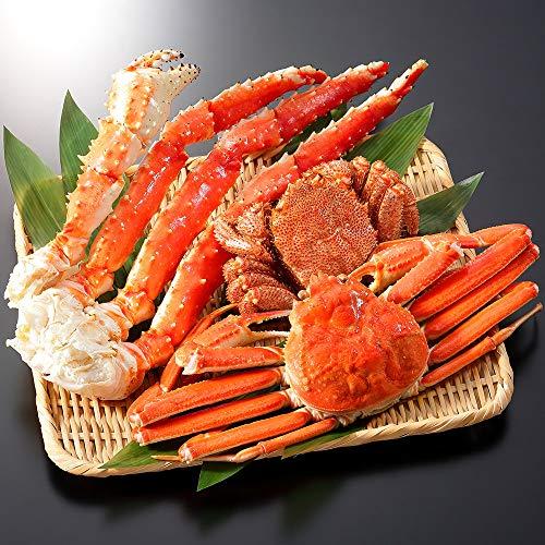 蟹 ハサミ ズワイガニ タラバガニ 足 毛蟹 三大蟹 食べ比べ セット 約3-5人前 北国からの贈り物