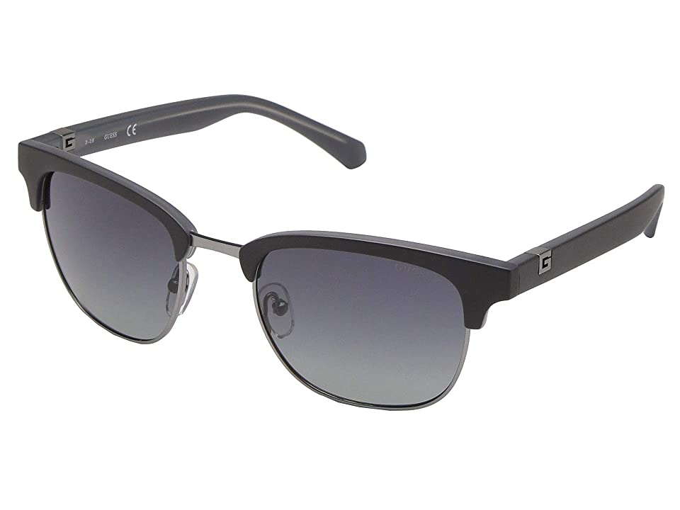 GUESS GU6895 (Shiny Light Nickeltin/Smoke Mirror 1) Fashion Sunglasses