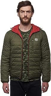Royal Enfield Polyster Olive & Red Jacket for Men Size (XL) 44 CM (RLAJKJ000064)