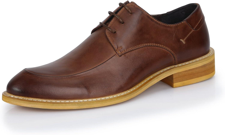 Gaofu Yinxiang pour homme British Style décontracté à lacets Chaussures en cuir - Marron - marron,