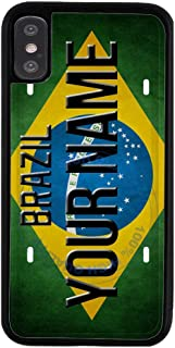 BRGiftShop Personalize Your Own License Brazil Plate Rubber Phone Case For Apple iPhone Xs Max