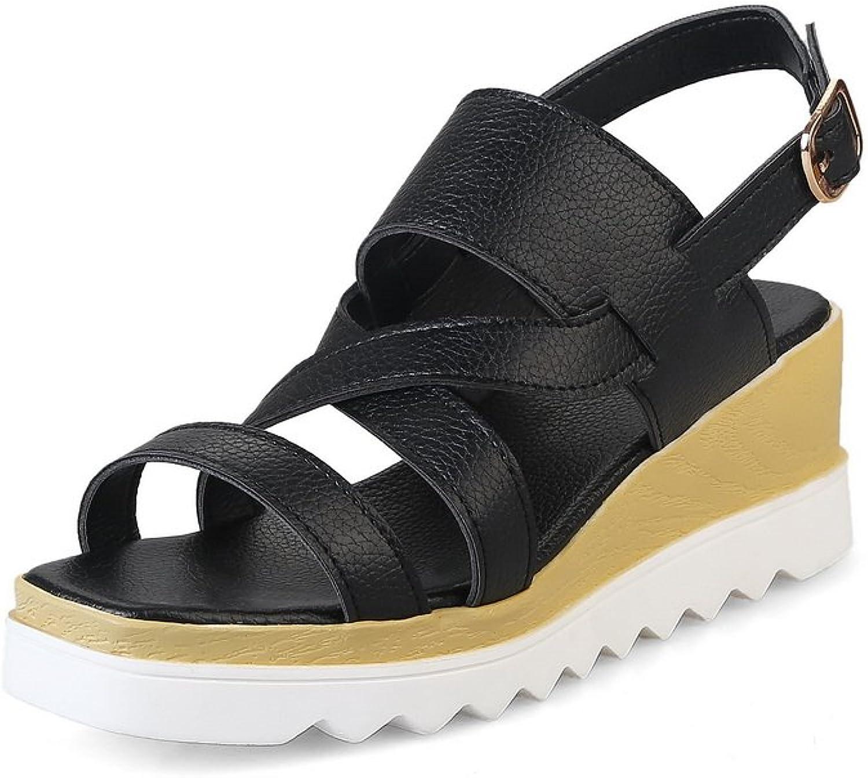 1TO9 Womens Wedges Platform Buckle Urethane Platforms Sandals MJS02835