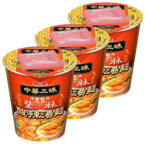 明星 中華三昧タテ型 赤坂榮林 酸辣湯麺 66g×3個
