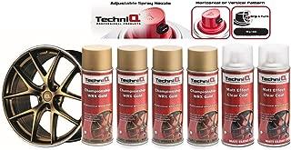 TechniQ WRX Championship - Juego de Pintura para Llantas de aleación de Oro (400 ml, 4 latas y 2 Capas Transparentes de Efecto Mate)