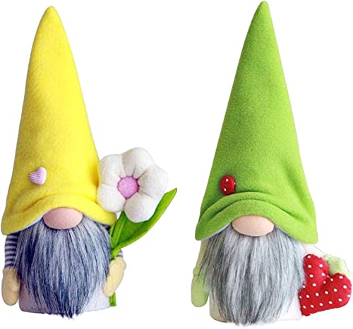 2 Pcs Easter Gnome Plush Gnomes Spring Easter Gift Gnome Tomte Nordic Swedish Dwarf Home Household Decor Spring Easter Collectible Figurine Ornament