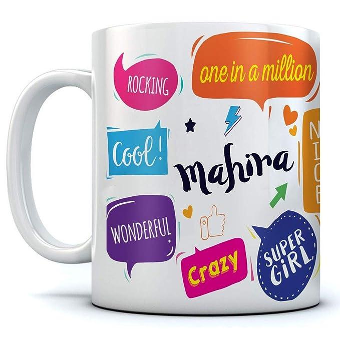 Mahira Ceramic Coffee Mug. 350 ml. Best Gift for Birthday