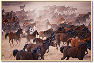 Memoirs- Sheep Horse Cattle Wall Art Canvas Painting Nordic Poster Animal Prints Wall Pictures for Living Room Home Decor,50x70cm No Frame,E
