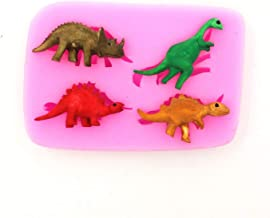 Baking Gift 4PCS Dinosaur Shaped Silicone Cake Mold Cake Decorating Tools 3D Molds Sugarcraft Tools Kitchen Accessories LH15-