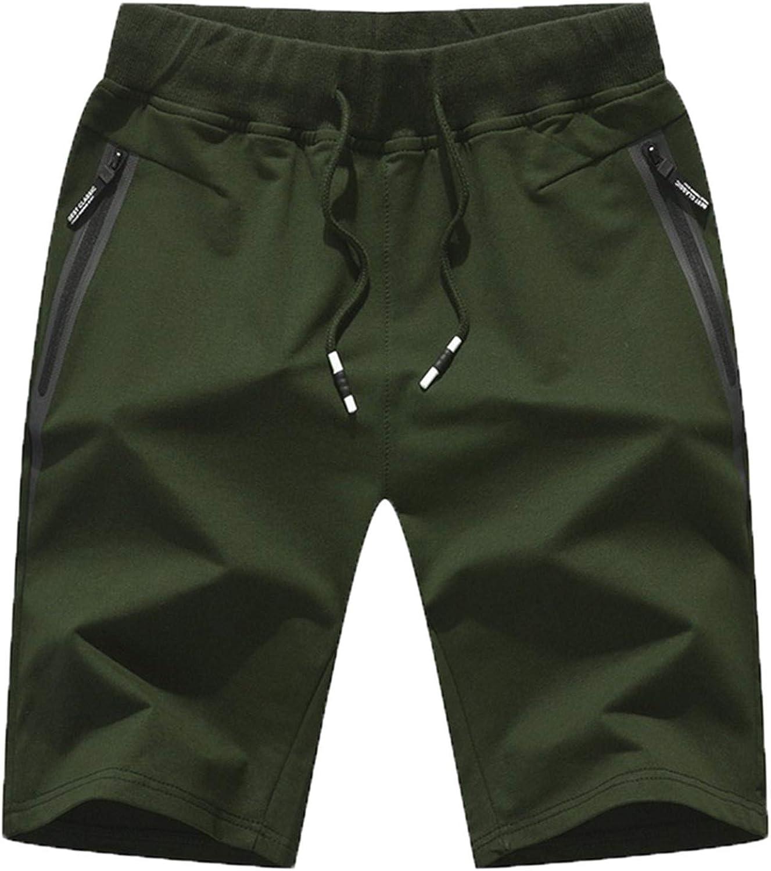 Yiqinyuan Summer Men's Shorts Cotton Elastic Waist Jogger Casual Beach Shorts Male Board Shorts Mens Clothing