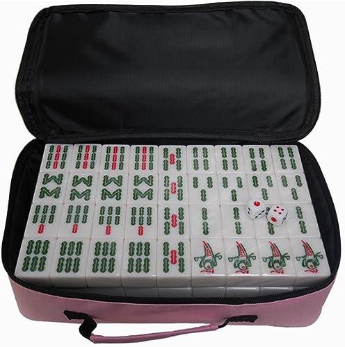 LI JING SHOP - Home Hand reiben Größe Mahjong Weiß, solide Melamin Material Mahjong, Größe  4.0  3.1  2.1CM (144sheets),   4.2  3.2  2.2CM (144sheets) ( Größe   4.23.22.2CM (144sheets) )