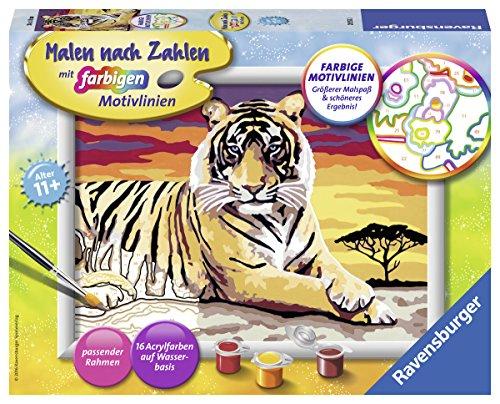 Ravensburger Malen nach Zahlen 28553 - Majestätischer Tiger - Für Kinder ab 11 Jahren
