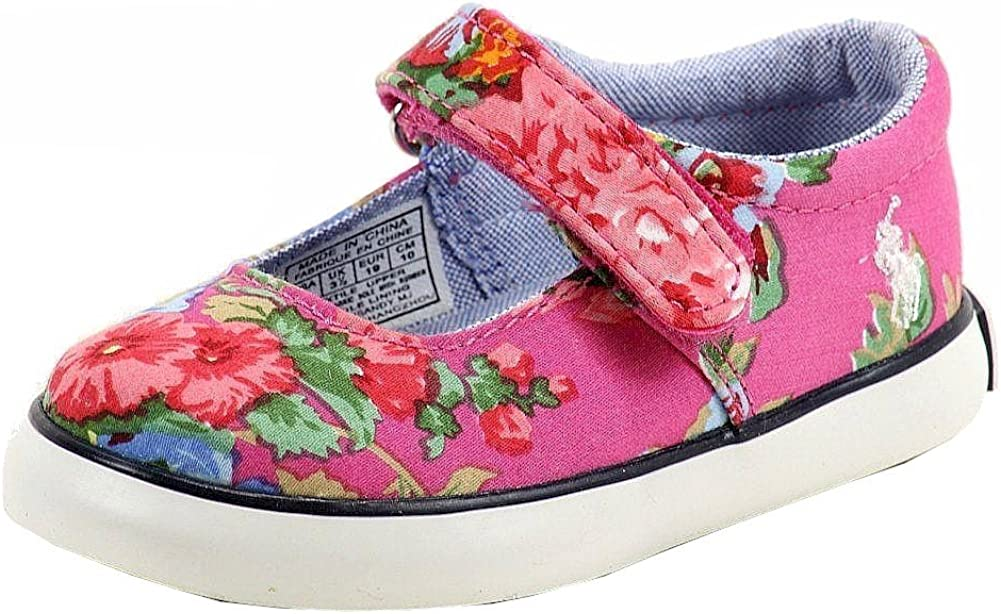 Polo Ralph Lauren Girl's Sandy MJ Pink Fashion Mary Janes Shoes Sz: 4